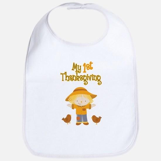 Scarecrow My First Thanksgiving Bib