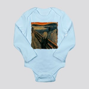 The Scream Long Sleeve Infant Bodysuit
