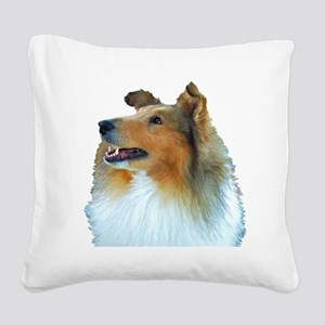 Thecollie Square Canvas Pillow