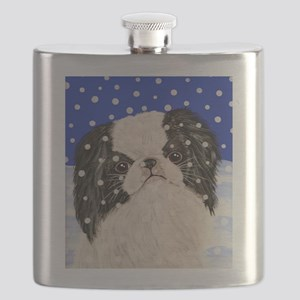 Snowflakes japanese chin Flask