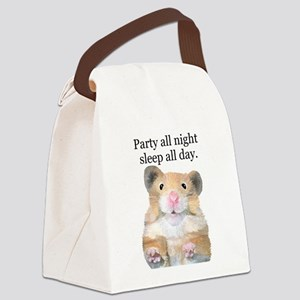 Hamster party design Canvas Lunch Bag
