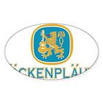 Bockenplautz Blue Logo Sticker (Oval)