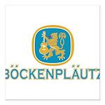 Bockenplautz Blue Logo Square Car Magnet 3