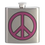 Pink Peace Sign Flask