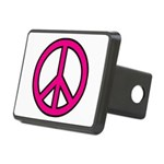 Pink Peace Sign Rectangular Hitch Cover