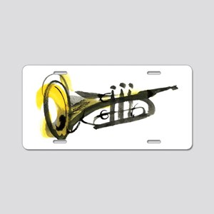 Trumpet Aluminum License Plate