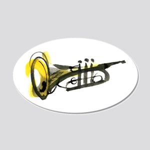 Trumpet 20x12 Oval Wall Decal