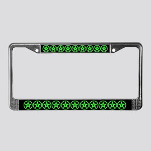 Pentagram Green As Above License Plate Frame