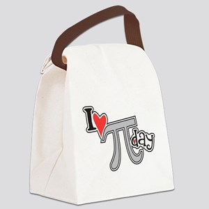 I heart (love) Pi Day Canvas Lunch Bag