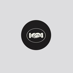 Psi Upsilon Fraternity Hand Symbol Mini Button