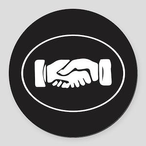 Psi Upsilon Fraternity Hand Symbo Round Car Magnet