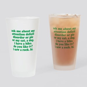 Funny My ADD Quote Drinking Glass
