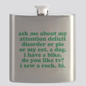 Funny My ADD Quote Flask