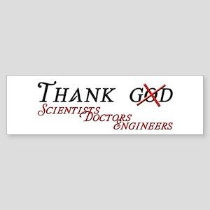 Thank Scientists Sticker (Bumper)