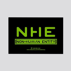 NHE Non Human Entity Rectangle Magnet