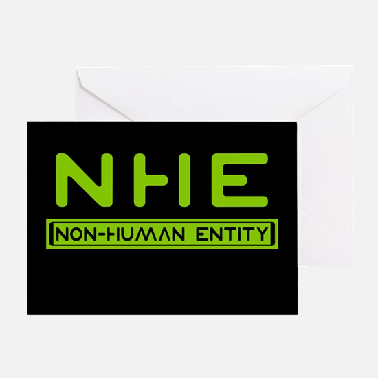 NHE Non Human Entity Greeting Card