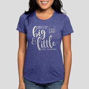 Gamma Sigma Sigma Big Lit Womens Tri-blend T-Shirt