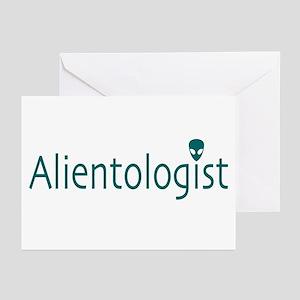 Alientologist Light Greeting Cards (Pk of 10)