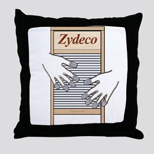 Zydeco Washboard Throw Pillow