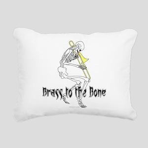 Brass To The Bone Rectangular Canvas Pillow