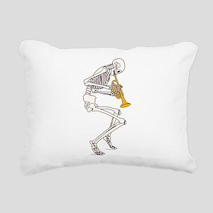Trumpeter Skeleton Rectangular Canvas Pillow