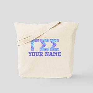 Gamma Sigma Sigma Blue Purple Personalize Tote Bag