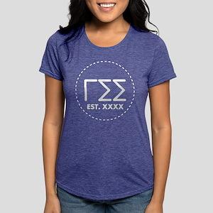 Gamma Sigma Sigma Circle Womens Tri-blend T-Shirt