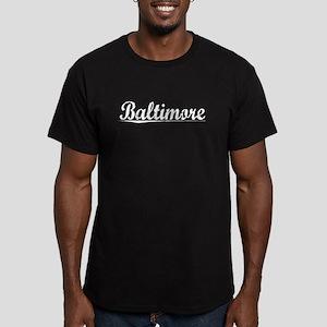 Baltimore, Vintage Men's Fitted T-Shirt (dark)