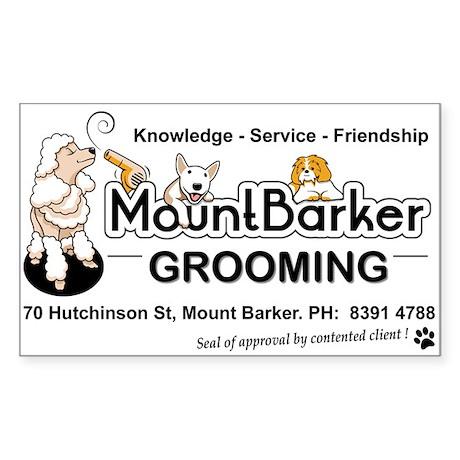 Mount Barker Grooming Sticker (Rectangle)