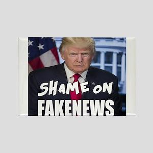 Trump Shame On Fake News Meme Magnets