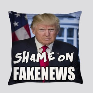 Trump Shame On Fake News Meme Everyday Pillow