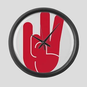 Houston Hand Gesture Large Wall Clock