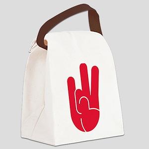 Houston Hand Gesture Canvas Lunch Bag