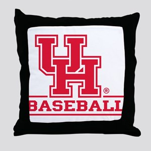 Houston Cougar Baseball Throw Pillow