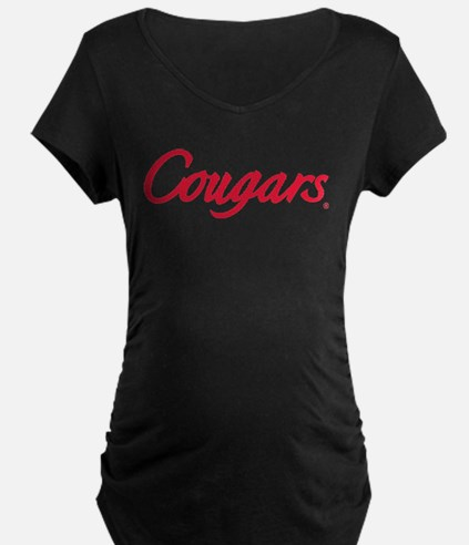Houston Cougars Red Text T-Shirt