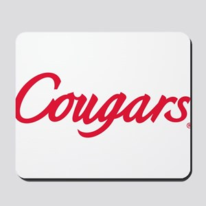 Houston Cougars Red Text Mousepad