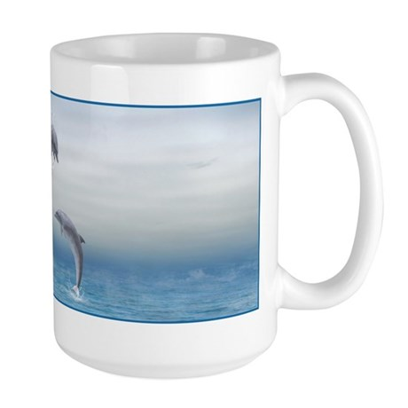 The Heart Of The Dolphins Large Mug