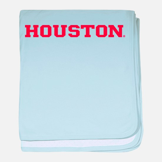 Houston Cougars Red Text baby blanket
