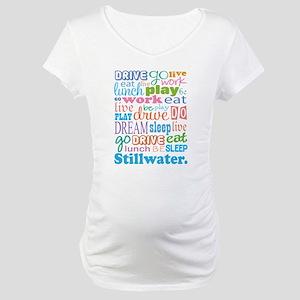 Stillwater Oklahoma Eat Sleep Maternity T-Shirt