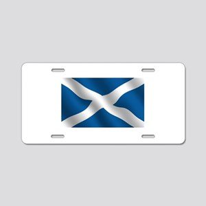 Scottish Saltire Aluminum License Plate