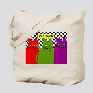 Vet Tech 3 cats whimical 2 Tote Bag