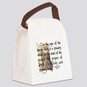 The Grapes of Wrath image & text Canvas Lunch Bag
