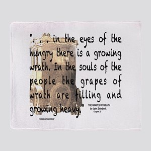 The Grapes of Wrath image & text Throw Blanket
