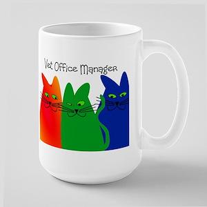 vet office manager Large Mug