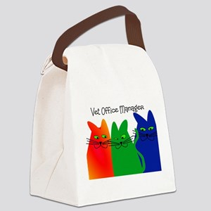 vet office manager Canvas Lunch Bag