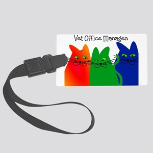 vet office manager Large Luggage Tag