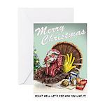Snarky Turkey Christmas card