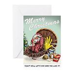 Snarky Turkey Christmas cards (Pk of 10)