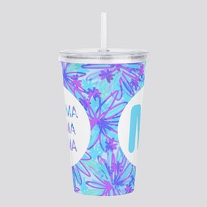 Gamma Sigma Floral Acrylic Double-Wall Tumbler