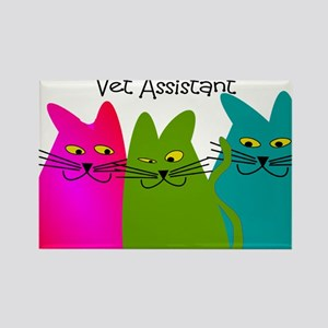 Vet Assistant whim cats Rectangle Magnet